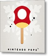 My Nintendo Ice Pop - Mushroom Metal Print by Chungkong Art
