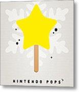 My Nintendo Ice Pop - Super Star Metal Print