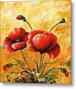 My Poppies 047 Metal Print