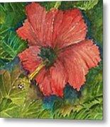 My Quiet Place-hibuscus Flower Metal Print