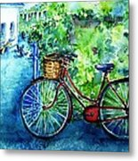 My Red Bike  Metal Print