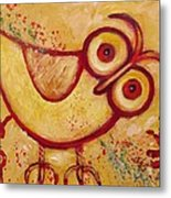 My Red Primitive Owl Metal Print
