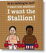 My Rocky Lego Dialogue Poster Metal Print by Chungkong Art