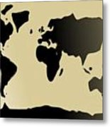 My #3 Simple World Metal Print