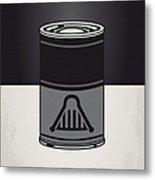 My Star Warhols Darth Vader Minimal Can Poster Metal Print