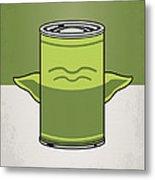 My Star Warhols Yoda Minimal Can Poster Metal Print