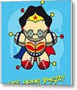 My Supercharged Voodoo Dolls Wonder Woman Metal Print