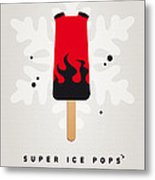 My Superhero Ice Pop - Hellboy Metal Print