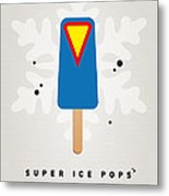 My Superhero Ice Pop - Superman Metal Print by Chungkong Art