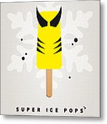 My Superhero Ice Pop - Wolverine Metal Print