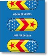 My Superhero Pills - Wonder Woman Metal Print