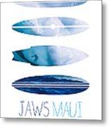 My Surfspots Poster-1-jaws-maui Metal Print by Chungkong Art