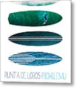My Surfspots Poster-3-punta De Lobos-chile Metal Print by Chungkong Art