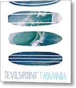 My Surfspots Poster-5-devils-point-tasmania Metal Print