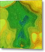 My Teddy Bear - Digital Painting - Abstract Metal Print