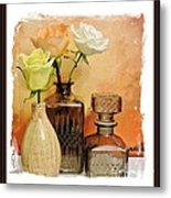 My Three Roses Still Life Metal Print