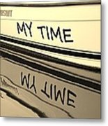My Time Boat Name Metal Print