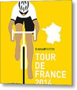 My Tour De France Minimal Poster 2014 Metal Print