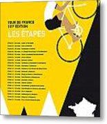 My Tour De France Minimal Poster 2014-etapes Metal Print by Chungkong Art
