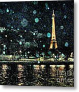 My Van Gogh Eiffel Tower Metal Print