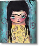 My Yellow Dress Metal Print by  Abril Andrade Griffith