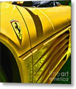 My Yellow Ferrari Metal Print