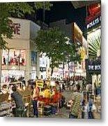 Myeongdong Shopping Street In Seoul South Korea Metal Print