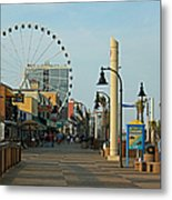 Myrtle Beach Boardwalk Metal Print