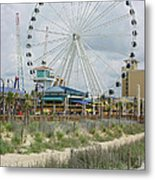 Myrtle Beach Skywheel 10 Metal Print