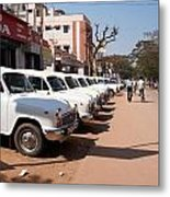 Mysore Taxis Metal Print