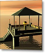 Mysterious Architecture Metal Print