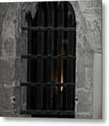 Mysterious Face In Cell Metal Print