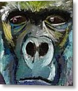 Mysterious Gorilla  Metal Print
