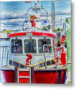 Mystic Fireboat Metal Print