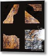 Mystic Fractures L Metal Print