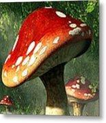 Mystic Mushroom Metal Print