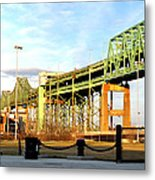 Mystic River Bridge  Metal Print