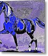 Mysterious Stallion Abstract Metal Print