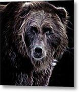 Mystical Bear Metal Print