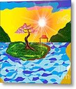 Mystical Island Metal Print