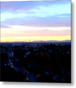 Mystical Munich Skyline With Alps During Sunset II Metal Print