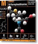 N-formylmethionine Amino Acid Molecule Metal Print