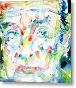 Nabokov Vladimir - Watercolor Portrait Metal Print