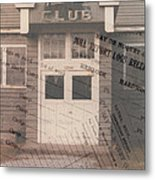 Nahma Club Collage Metal Print