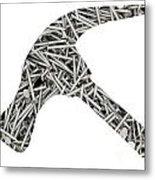 Nails Forming Shape Of Hammer Metal Print