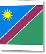Namibia Flag Metal Print
