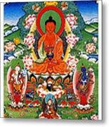 Namo Amitabha Buddha 40 Metal Print