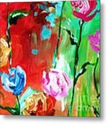 Nancy's Flowers Metal Print