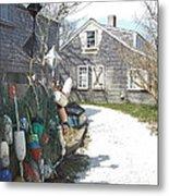 Nantucket Buoys Metal Print