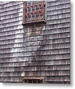 Nantucket Olde Gaol Windows Metal Print